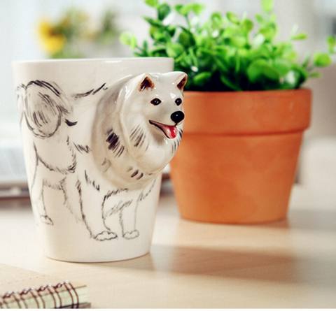 3D Dog Ceramic Coffee, Milk, Tea Mug