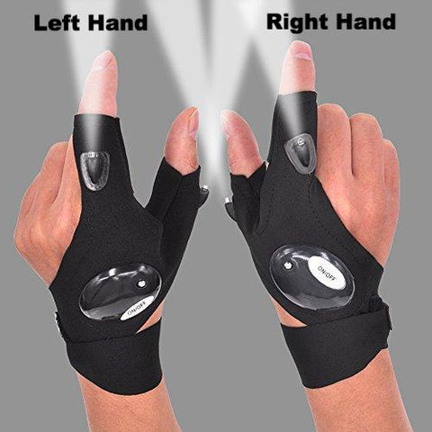 Fingerless LED Flashlight Glove