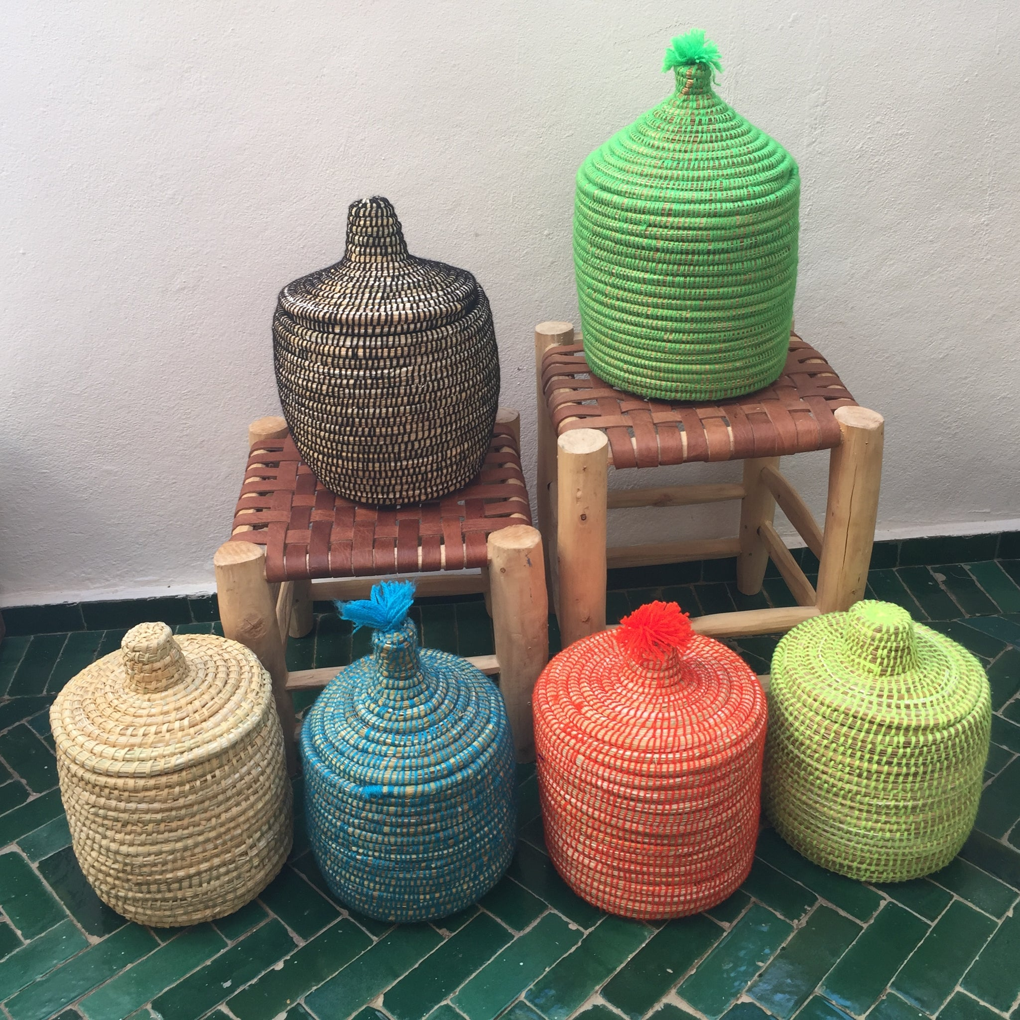 Colored Handwoven Baskets