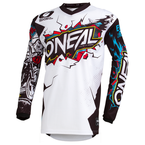 ONEAL 19 ELEMENT VILLAIN JSY WHT ADULT