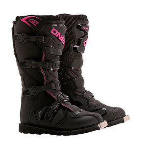 ONEAL 2018 RIDER BOOTS BLACK/PINK YOUTH