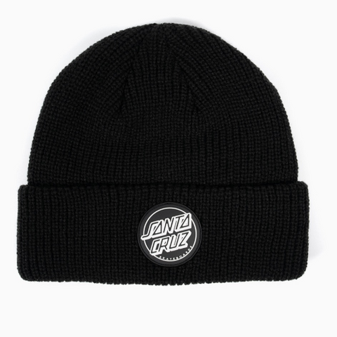 REVERSE DOT PATCH BEANIE