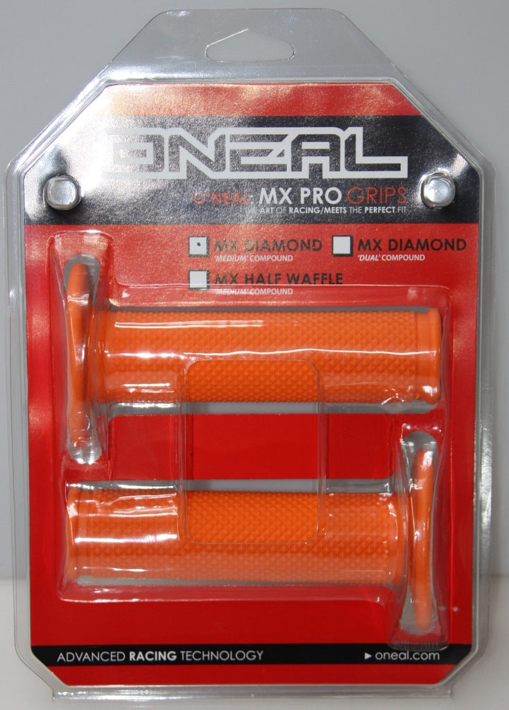ONEAL MX PRO GRIPS FULL DIAMOND- ORANGE