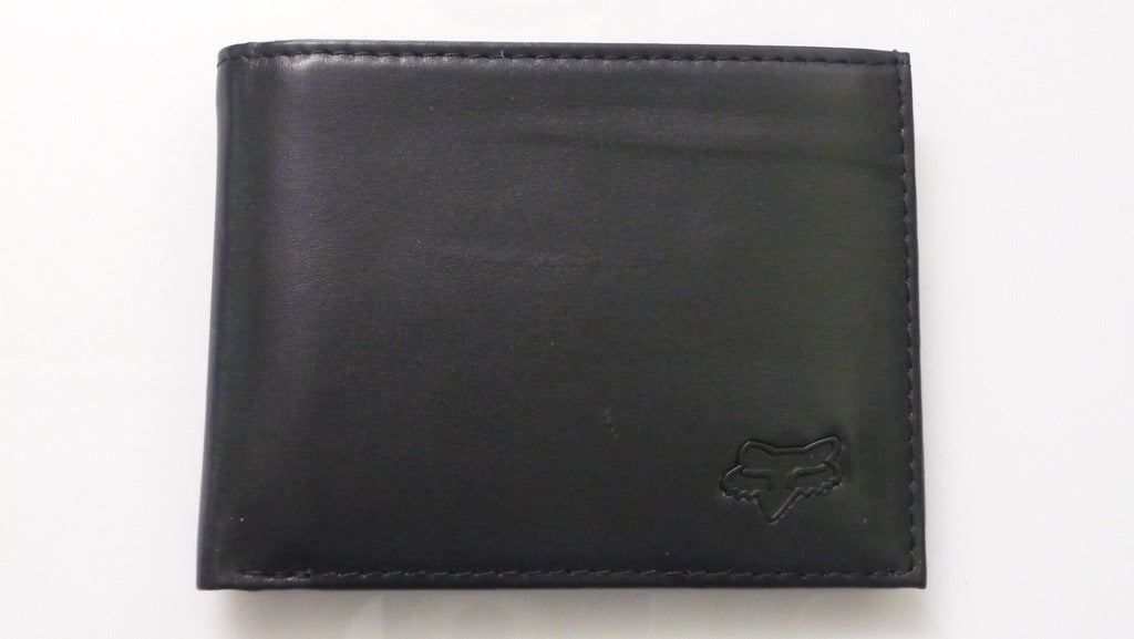BIFOLD FOX LEATHER WALLET BLACK