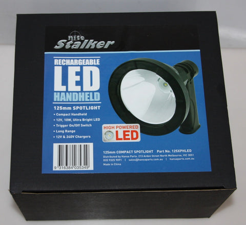 NITE STALKER 10W 12V 125MM HAND HELD SPOTLIGHT