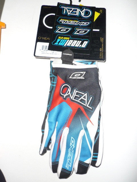 Oneal Jump Glove Race Black/Blue/Red, Blue, 9