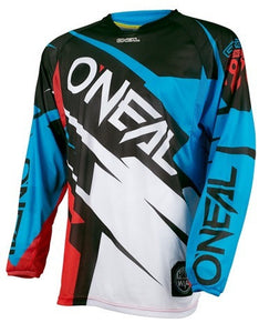 ONEAL H/WEAR FLOW JAG JERSEY BLUE/RED LG