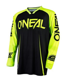 ONEAL MAYHEM BLOCKER JERSEY BLACK/HI VIZ ADULT MEDIUM