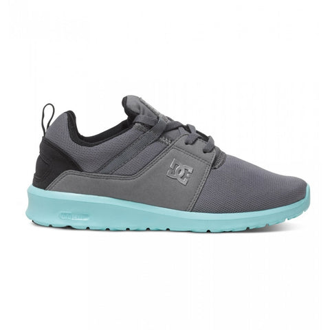 HEATHROW GREY/BLACK/BLUE LADIES SHOE, Grey, 7