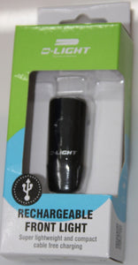 LIGHT FRONT D-LIGHT USB RECHARGABLE 4 FUNCTION BLACK