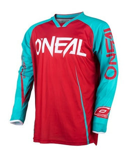 ONEAL MAYHEM BLOCKER JERSEY RED/TEAL ADULT SMALL