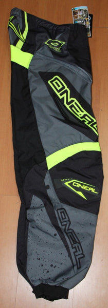 ONEAL ELEMENT R/WEAR PANT BLK/GRY/ HIVIZ ADULT 36