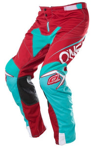 ONEAL MAYHEM BLOCKER PANT RED/TEAL ADULT SZ:30