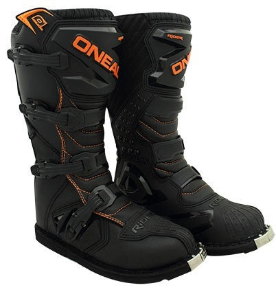 ONEAL RIDER BOOTS BLACK/ ORANGE ADULT (10)