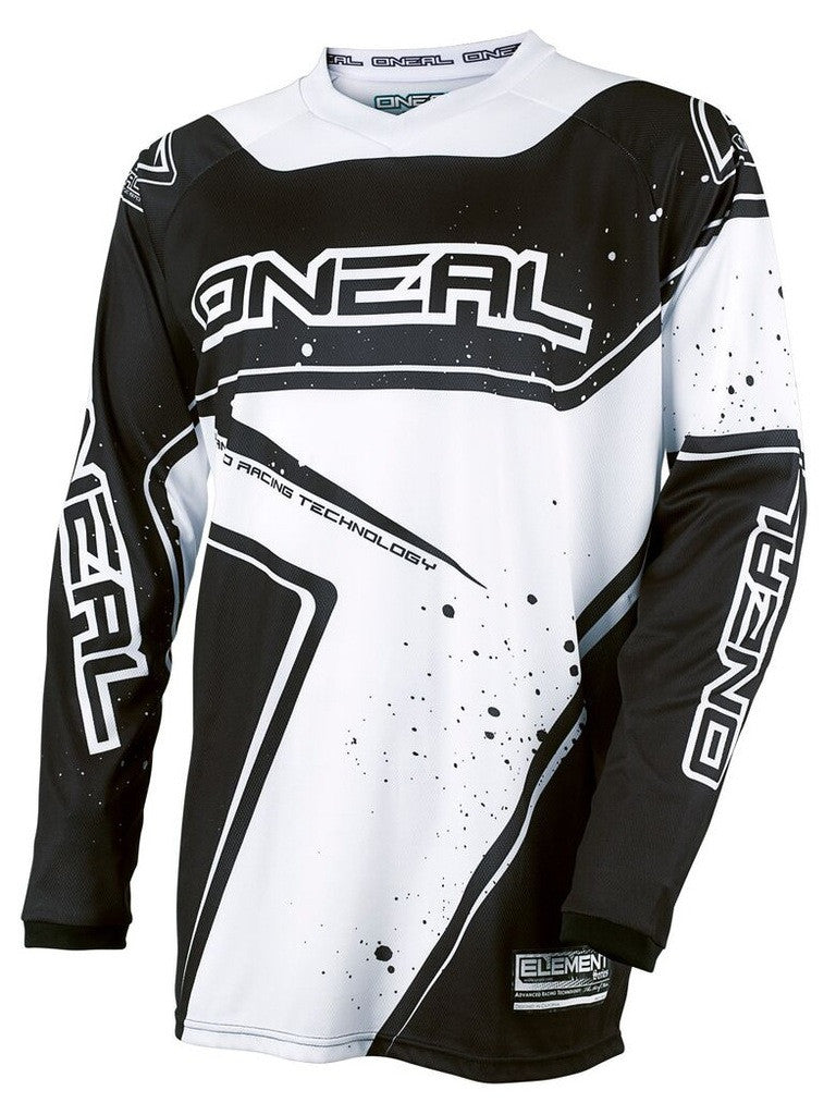 ONEAL ELEMENT R/WEAR JERSEY BLACK/WHITE XL