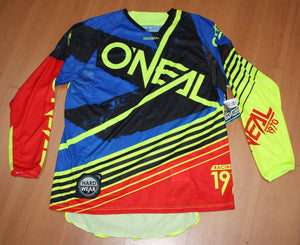 ONEAL HARDWEAR SKIZM JERSEY BLUE/RED LARGE