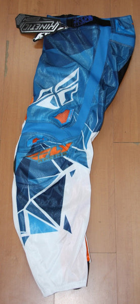 FLY KINETIC PANT MESH BLUE WHITE ORANGE/ 34""