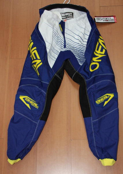 ONEAL ELEMENT R/WEAR PANT BLUE/YELLOW ADULT 32
