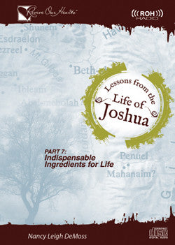 Lessons from the Life of Joshua: Indispensable Ingredients for Life, Part 7 (CDs)