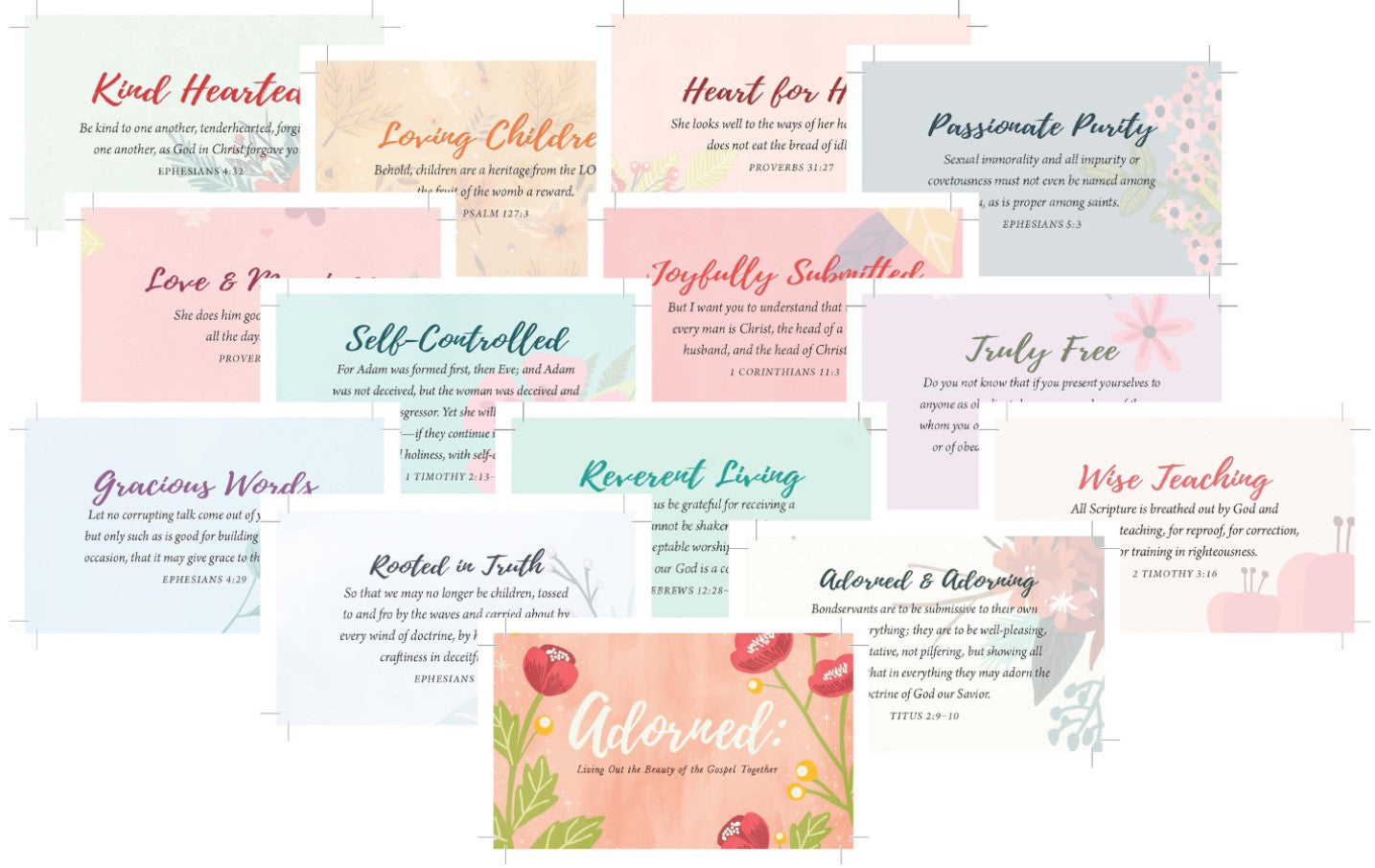 Adorned Scripture Memory Cards - Revive Our Hearts