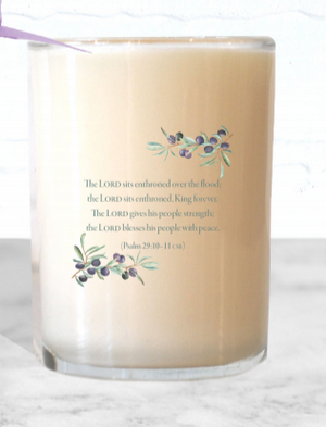 Psalm 29:10-11 Candle
