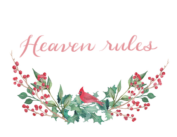 Heaven Rules Red Cardinal 10x 8 Print