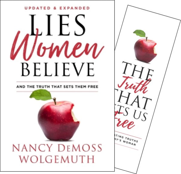 Lies Women Believe Hardcover Book with Truth Bookmark