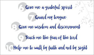 My Personal Petitions Prayer Cards Pk 5
