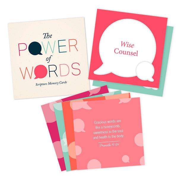 Power of Words Scripture Memory Cards (21 cards)