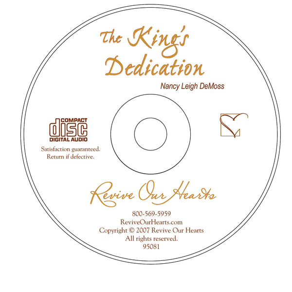 The King's Dedication: Simeon and Anna Welcome Christ (MP3CD)