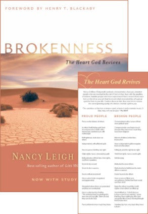 Brokenness: The Heart God Revives Book & Bookmark Set
