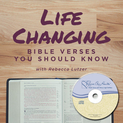 Life-Changing Bible Verses You Should Know with Rebecca Lutzer (CD)
