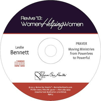Revive 13: Prayer: Moving Ministries from Powerless to Powerful by Leslie Bennett (CD)
