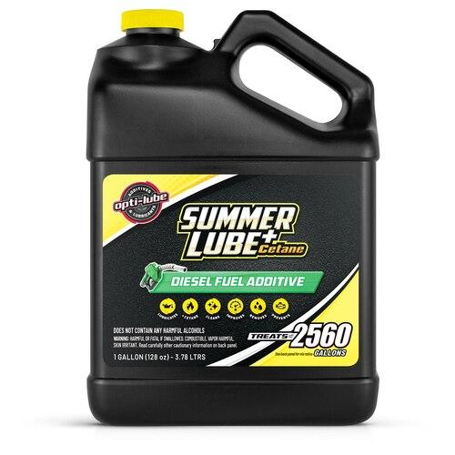 OPTI-LUBE SUMMER LUBE +CETANE DIESEL FUEL ADDITIVE: 1 GALLON WITHOUT ACCESSORIES, TREATS UP TO 2,560 GALLONS