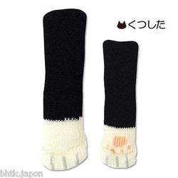 ねこあし Nekoashi - SET 4 chaussettes pour chaise NOIRES - Import direct Japon