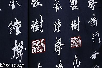 浴衣 Yukata japonais traditionnel XL - Kanji - MADE IN JAPAN