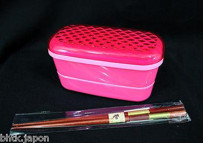 お弁当 BENTO BOX - Kit DIAMAND ROSE + baguettes IMPORT JAPON - produits du Japon - BHTK
