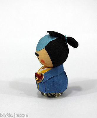 起き上がり小法師 Okiagari Koboshi - Figurine papier maché SAMOURAI - Made in Japan K2099