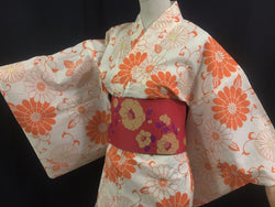 浴衣 Yukata japonais - Orange 1421