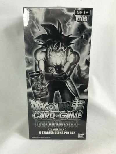LOT 6x DRAGON BALL SUPER CARD GAME STARTER DECK Dark Invasion SD03 English version - produits du Japon - BHTK