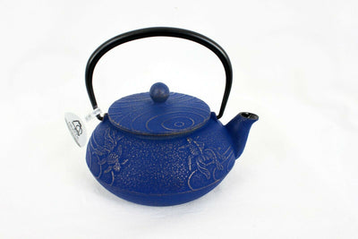 急須 Kyuusu Théière fonte Iwachu 0,6 l KINGYO Bleu & Or - Made in Japan - produits du Japon - BHTK