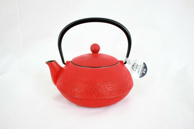 急須 Kyuusu - Théière fonte Iwachu 0,6 l NAMI 波 Made in Japan ROUGE - produits du Japon - BHTK