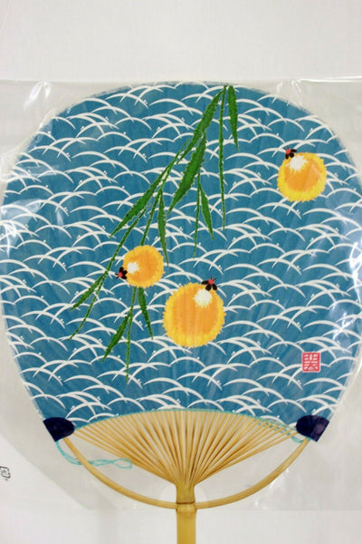 団扇 Uchiwa - Eventail rigide traditionnel japonais TANPOPO