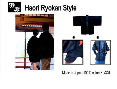 旅館羽織 Ryokan Haori Veste japonaise 100% coton Made in Japan