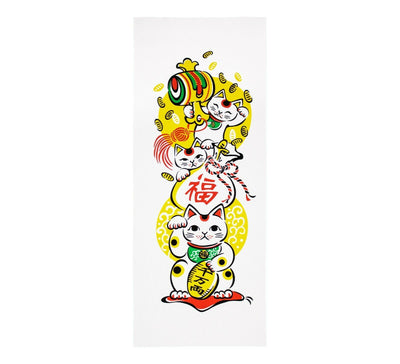 手拭 TENUGUI Serviette japonaise Made in Japan MANEKINEKO - produits du Japon - BHTK