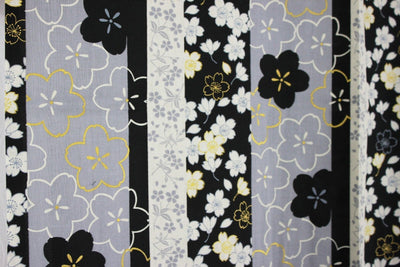 浴衣 Yukata japonais traditionnel SAKURA NOIR (M/L) MADE IN JAPAN - produits du Japon - BHTK