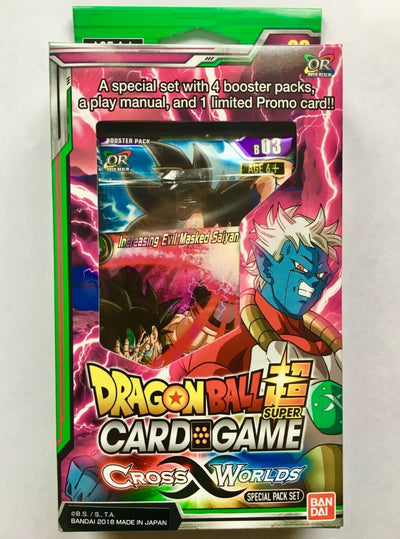 DRAGON BALL SUPER CARD GAME SPECIAL PACK SET Cross Worlds SP03 English version - produits du Japon - BHTK