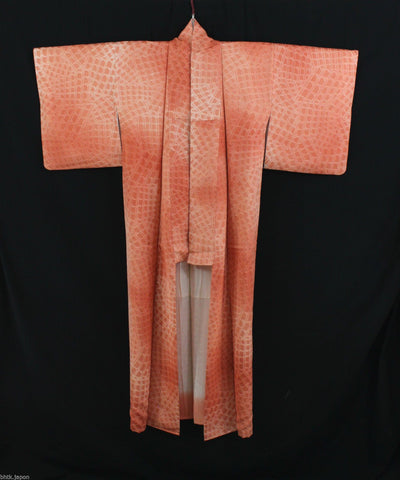 小紋 着物 Komon Kimono - Ecailles Saumon - Made in Japan 1366 - produits du Japon - BHTK