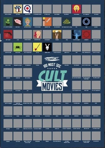 Cult Movies Scratch Off Poster