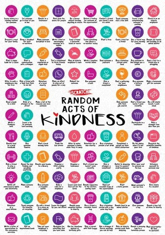 Random Acts of Kindness Scratch Off Poster